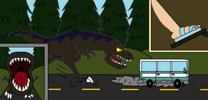 Jurassic Loud T-Rex Chases Vanzilla