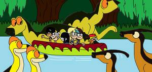 Jurassic Loud Kayaking with Hadrosaurs