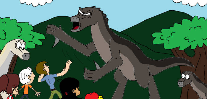 Jurassic Loud Iguanodon Attack