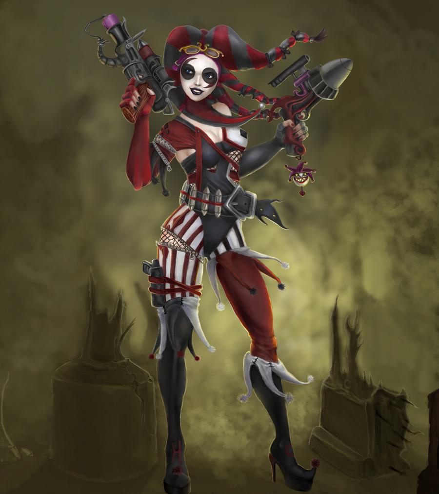 Harley queen a gun diva wip by axelalonso on deviantart for Imagenes de jarli cuin