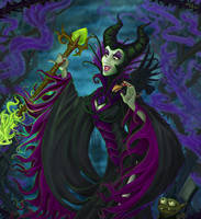 Maleficent Queen Of Darkness by axelalonso