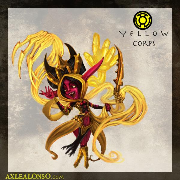 Yellow LANTERN CORPS by axelalonso