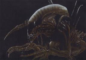 alien drawing by JonMckenzie