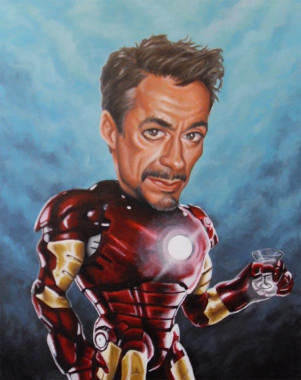 Downey Jr Iron Man Caricature by JonMckenzie