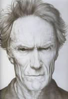 Clint Eastwood Pencil Portrait by JonMckenzie