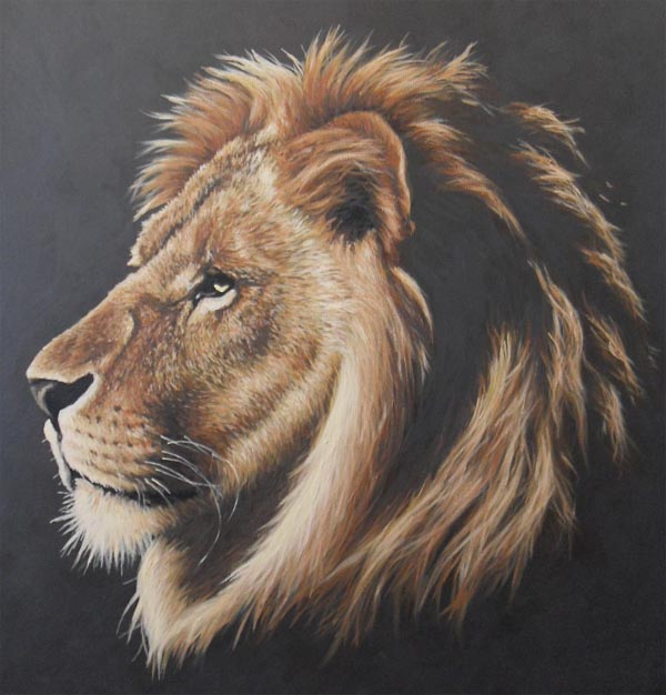 lion portrait painting by jonmckenzie on deviantart