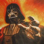 Vader Reaching Painting