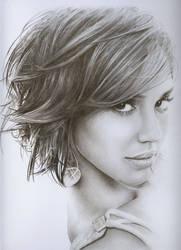Jessica Alba Pencil Portrait.