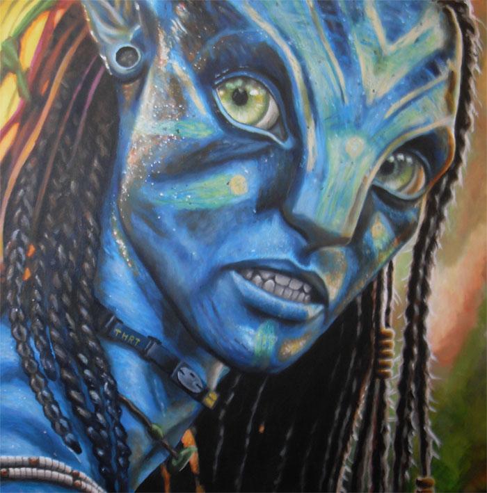 To Watch Full Movie Avatar: Avatar Neytiri Painting By JonMckenzie On DeviantArt