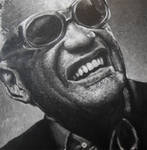 Ray Charles Portrait Painting