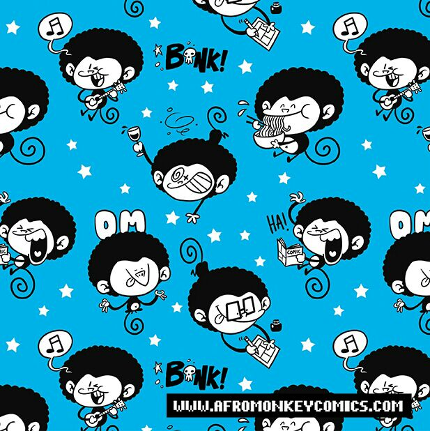 Afro Monkey Pattern by PacoAfroMonkey