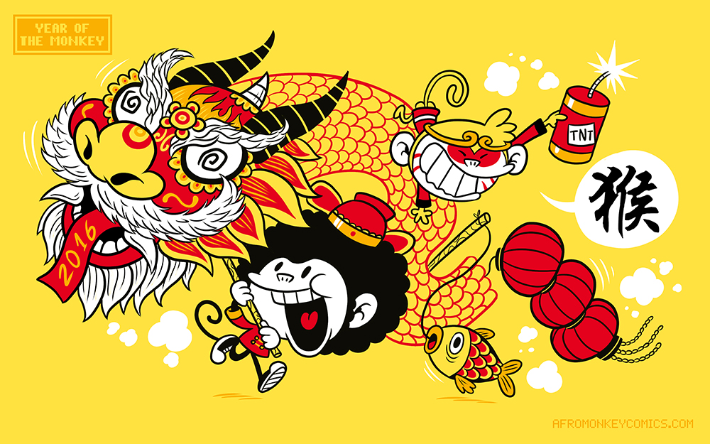 Year Of The Monkey by PacoAfroMonkey