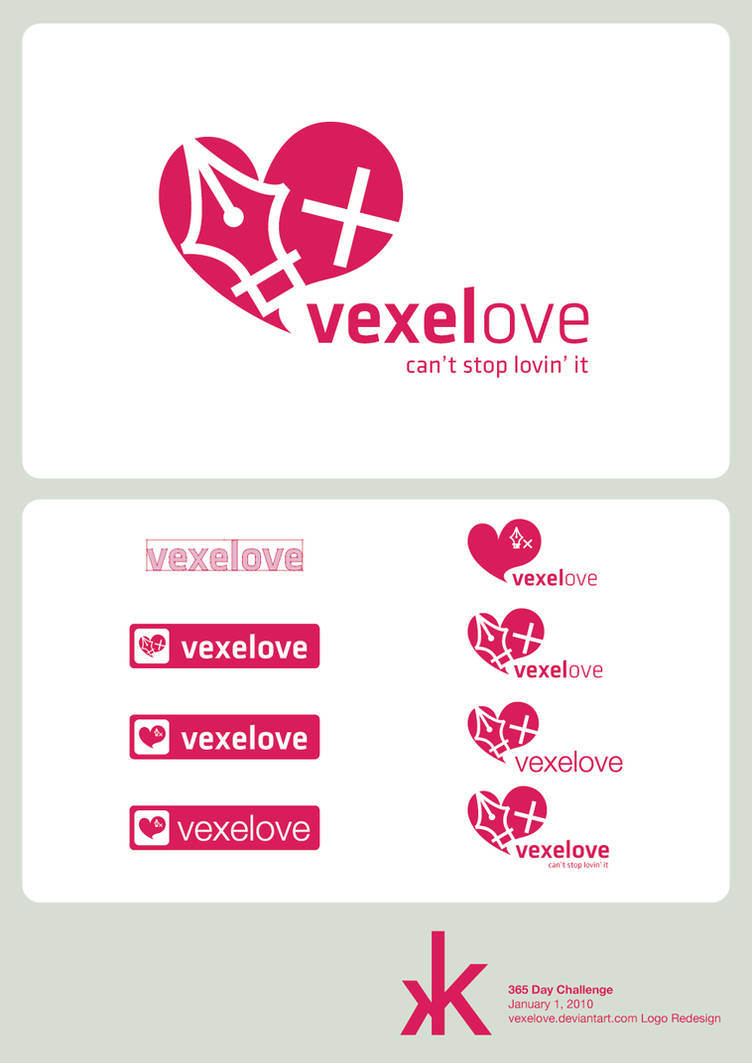 D1 - Vexelove's Logo Redesign by kaotickell