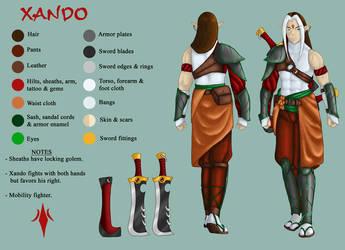 Xando - Character Sheet by sirscalf