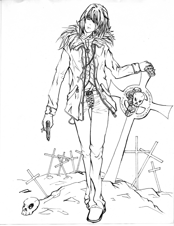 Death Note coloring pages for kids