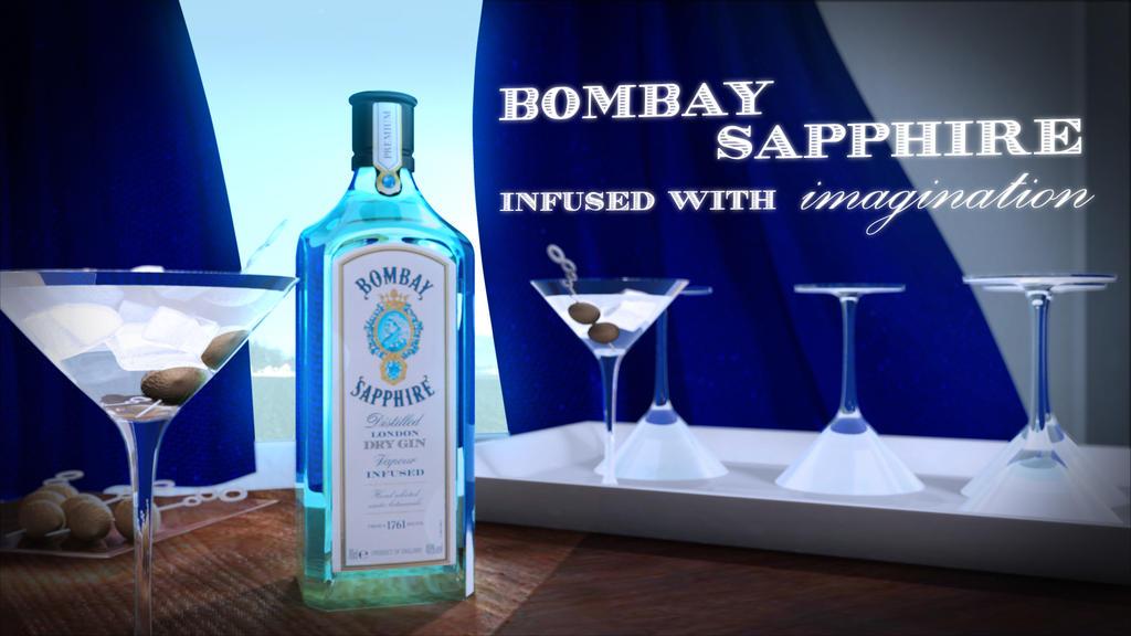 Bombay Sapphire Modeling Project by MakotoKacun