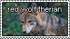 Red Wolf Therian Stamp by TrashyGuroPrince