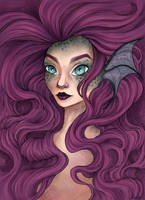 Mermaid Portrait [Coloured] by Claudie-G