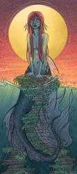Sunset Mermaid by Klawddie