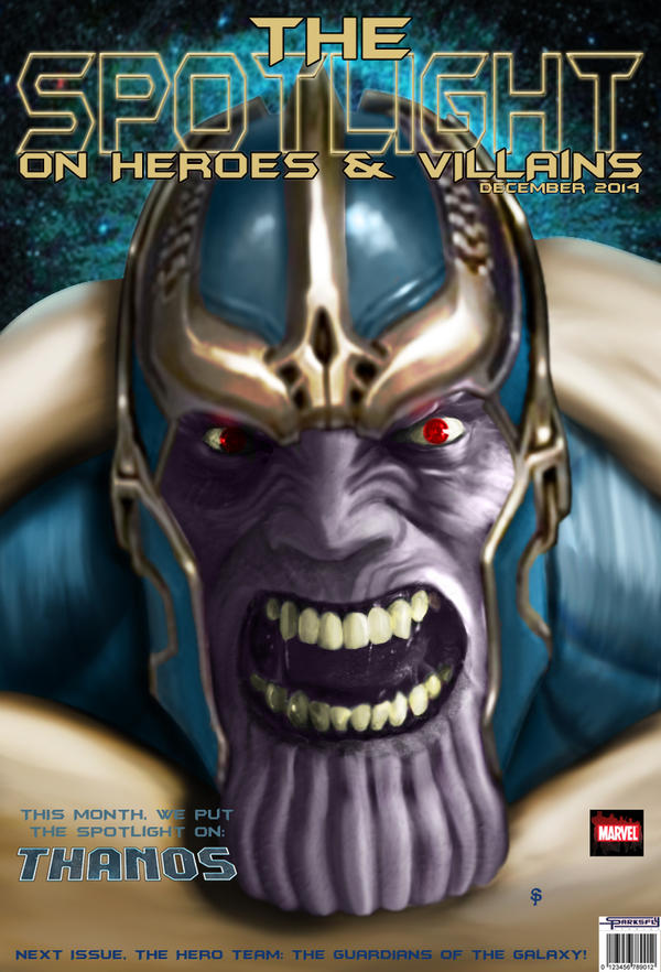 The Spotlight On Thanos by SparksflyStudios