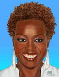 Viola Davis Digital Painting