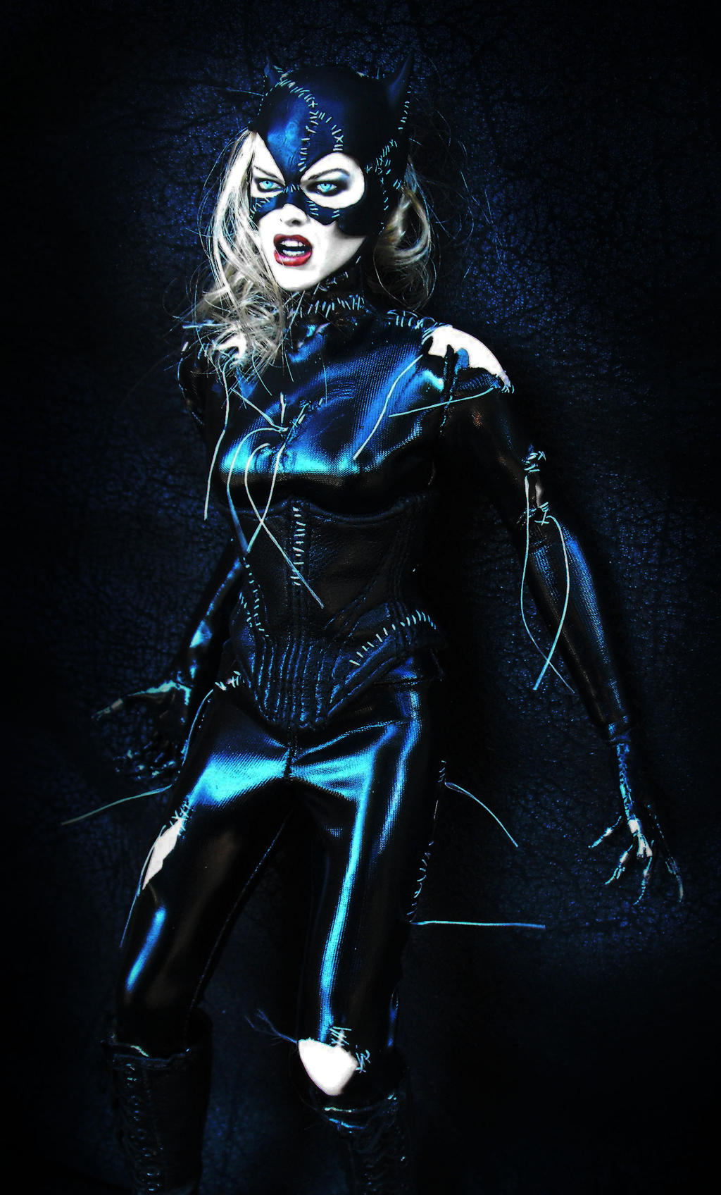 Buy a Catwoman costume to join the long line of attractive actresses who have donned the outfit: Anne Hathaway, Halle Berry, Michelle Pfeiffer and Julie Newmar. If you are looking for a sexy Halloween costume from the Batman series, then shop our cat woman costumes!