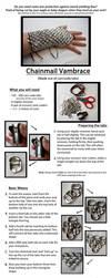 Can/ Soda Tab Chainmail Vambrace Tutorial by kirilee