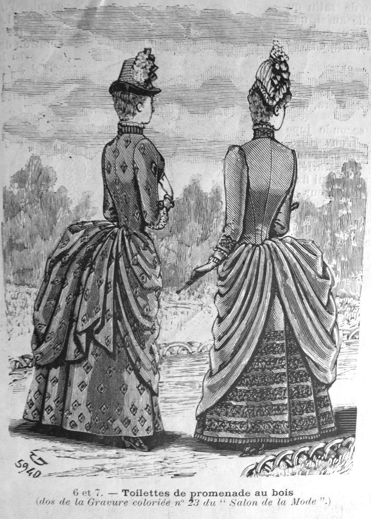 Salon de la mode 15 june 1886 ladies back image by kirilee for Salon a la mode