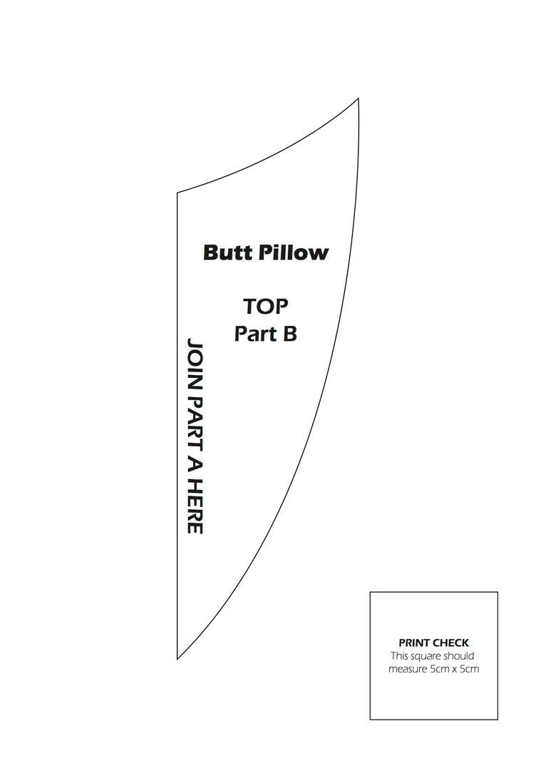 Butt Pillow Pattern 2 by kirilee