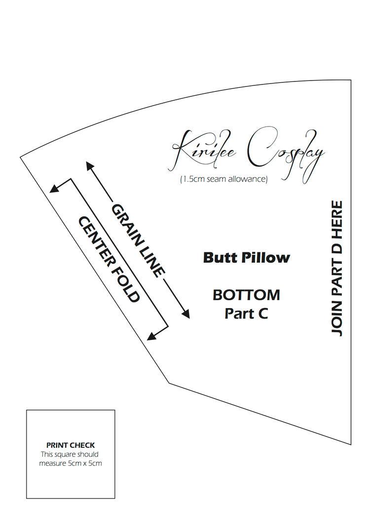 Butt Pillow Pattern 3 by kirilee