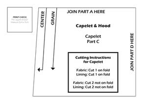 Capelet and Hood Pattern - Capelet 3