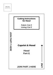 Capelet and Hood Pattern - Hood 3
