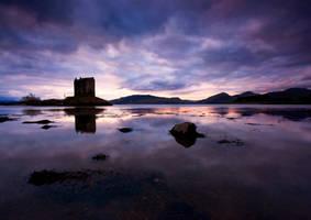 Twilight at Castle Stalker by ArwensGrace
