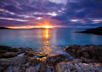 Hebredean Sunset by ArwensGrace