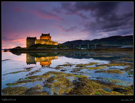 Eilean Donan Castle : Afterglow