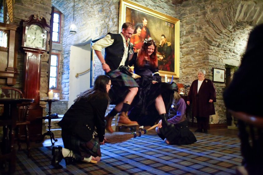 Scottish Wedding  : Jumping the Besom by ArwensGrace