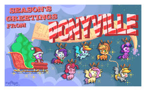 Season's Greetings From Ponyville Postcard