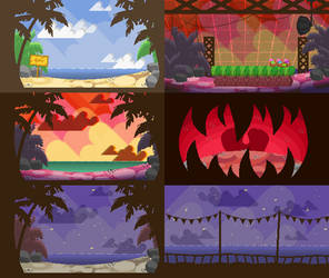 Spike's Time Off Backgrounds: Single Screens