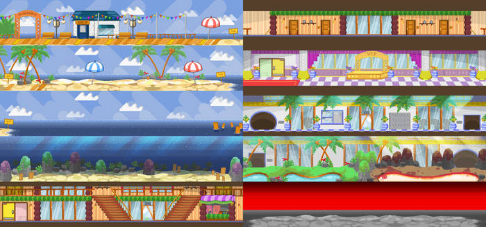 Spike's Time Off Backgrounds: Long Screens