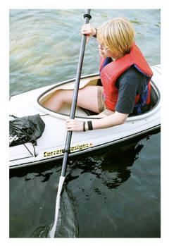 Megan kayaking