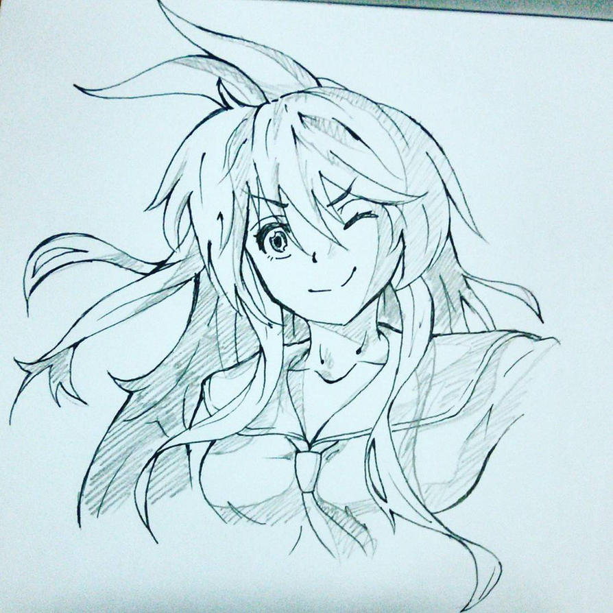 Chitoge [Sketch] by flannorange