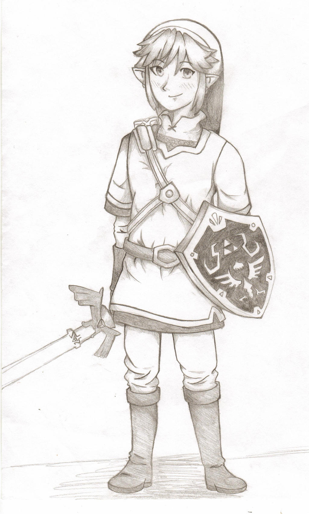 how to draw link skyward sword