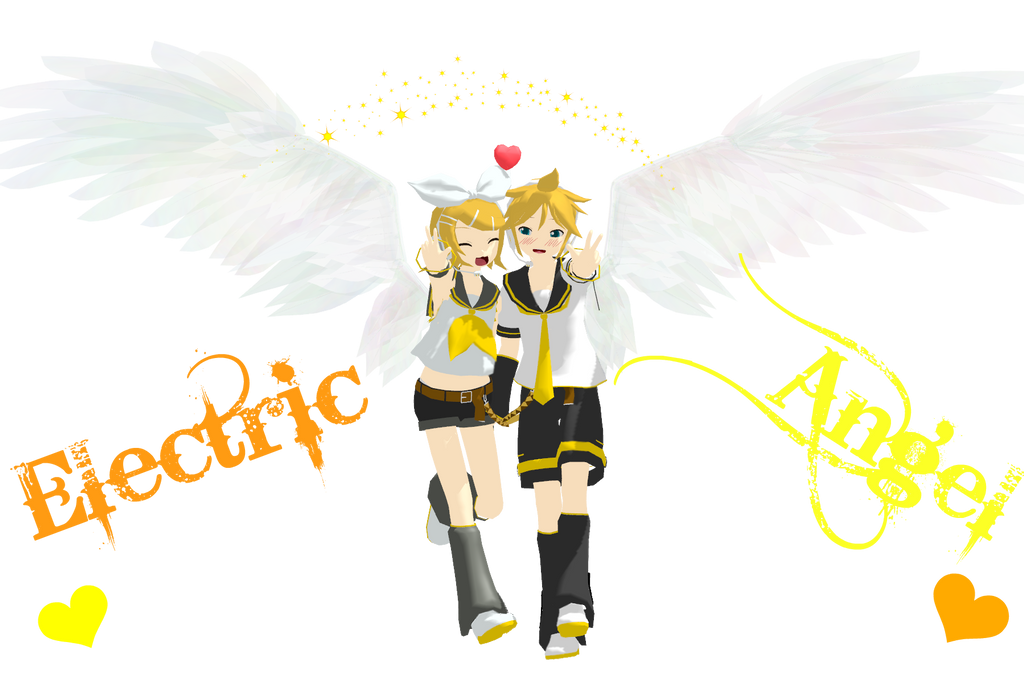 Rin And Len Kagamine Electric Angel Electric Angel Rin Len by