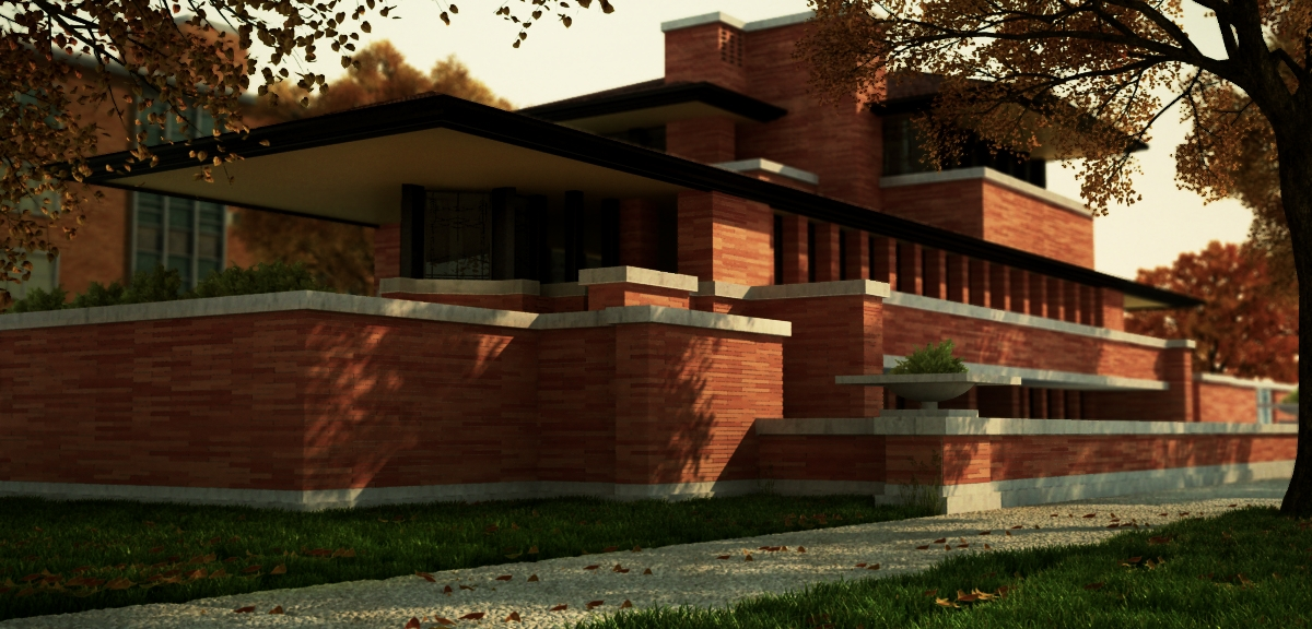 Stylehistory besides Mid Century Modern as well Kitchen Cabi  Refacing together with Robie House Autumn 320406556 moreover Magnificent Frank Lloyd Wright Designs. on prairie house plans