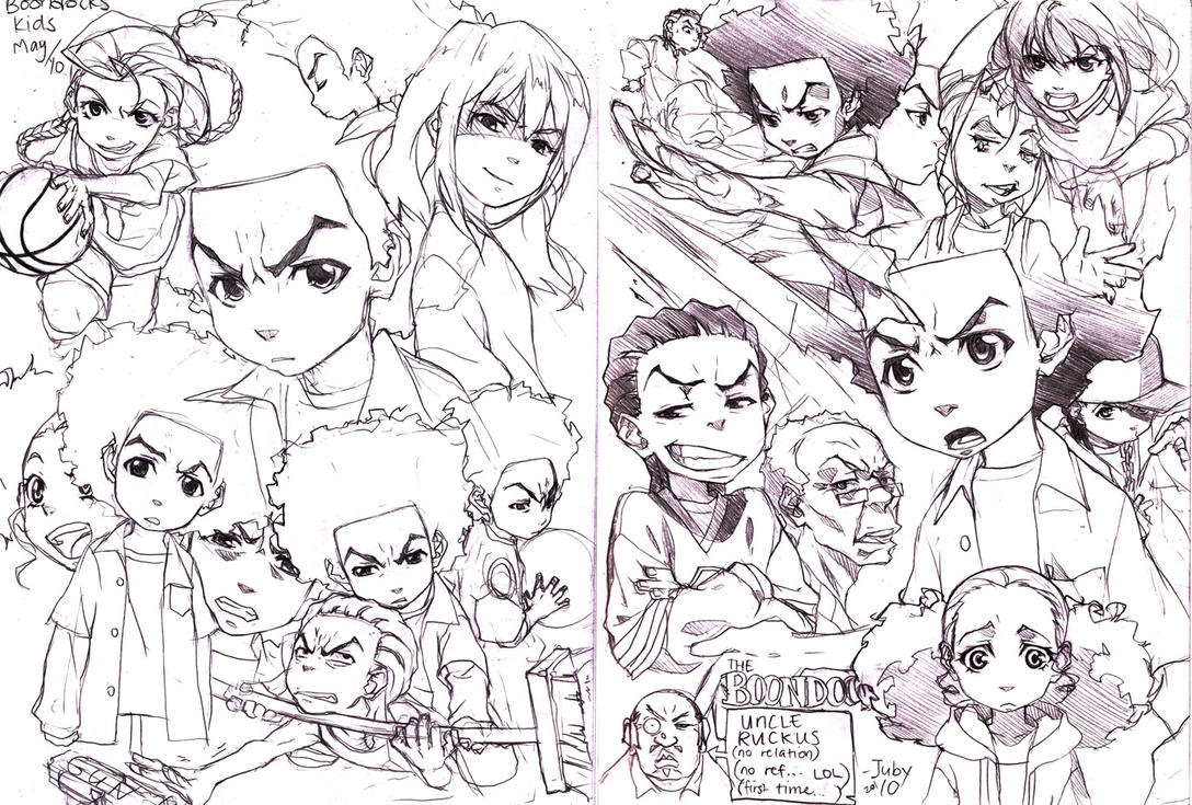 The boondocks drawings