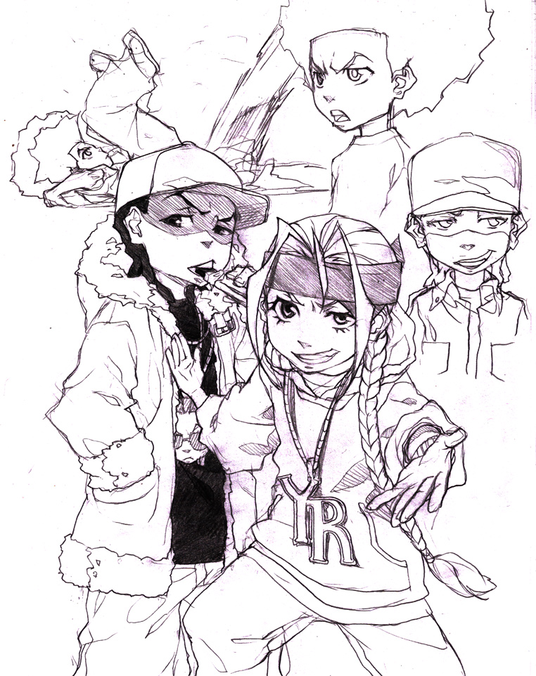 Boondocks sketches 3 by joodlez