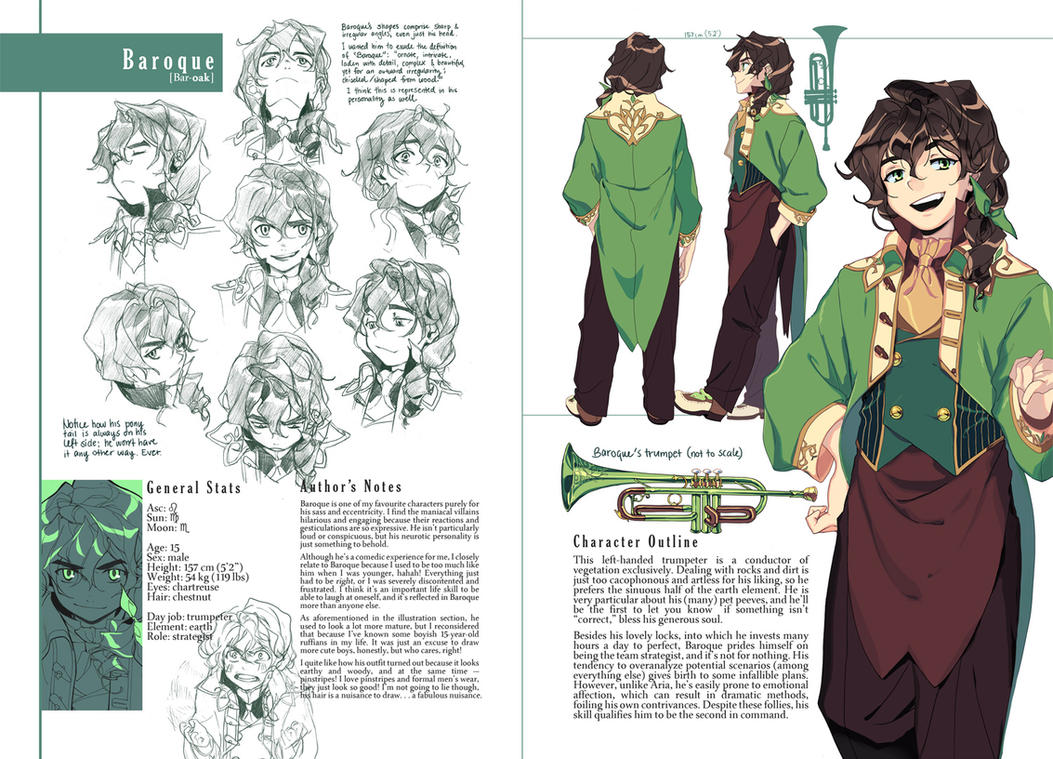 Good Character Design Portfolio : Baroque character sheet by joodlez on deviantart