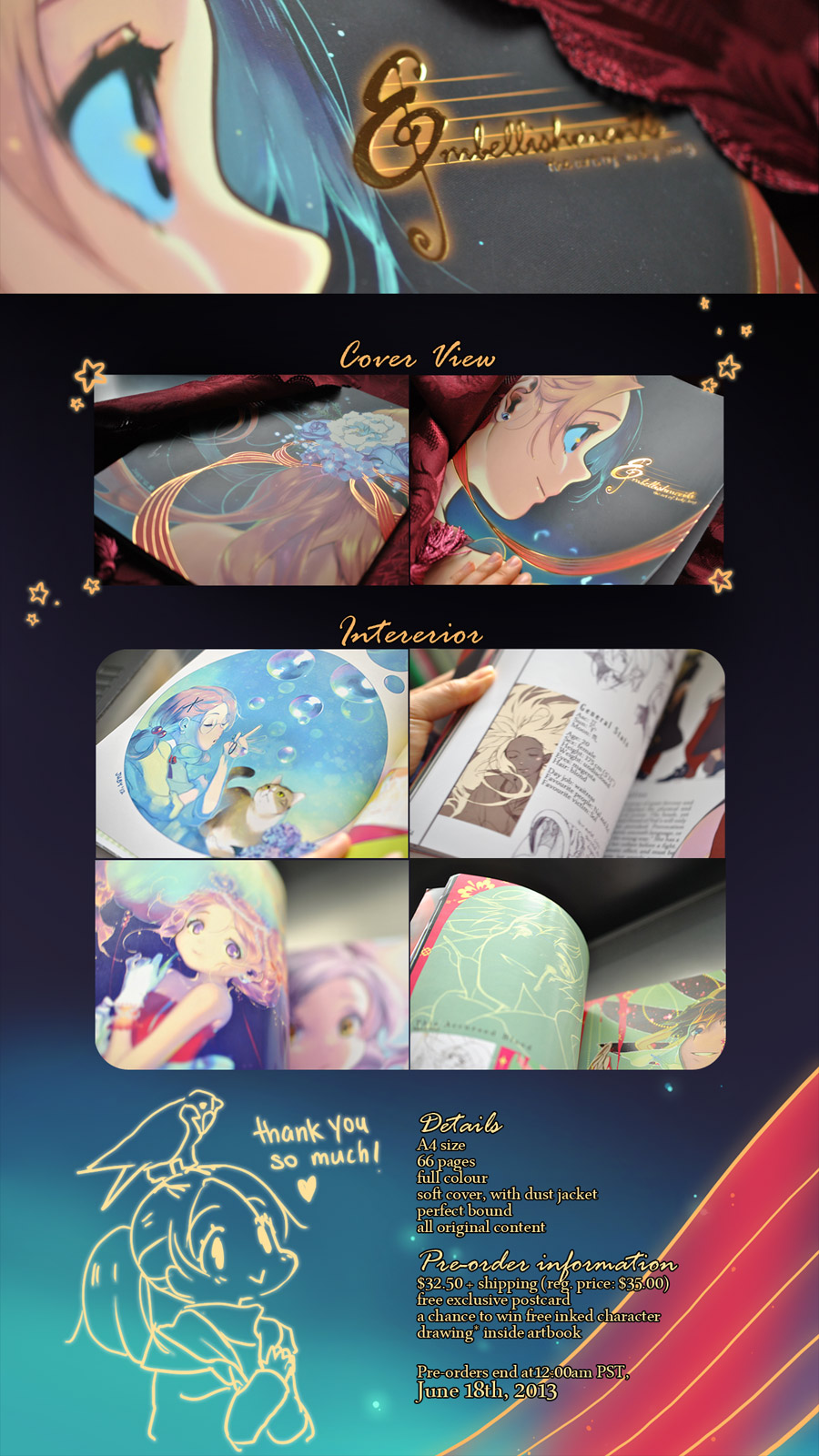 Embellishments Artbook Pre-orders by joodlez