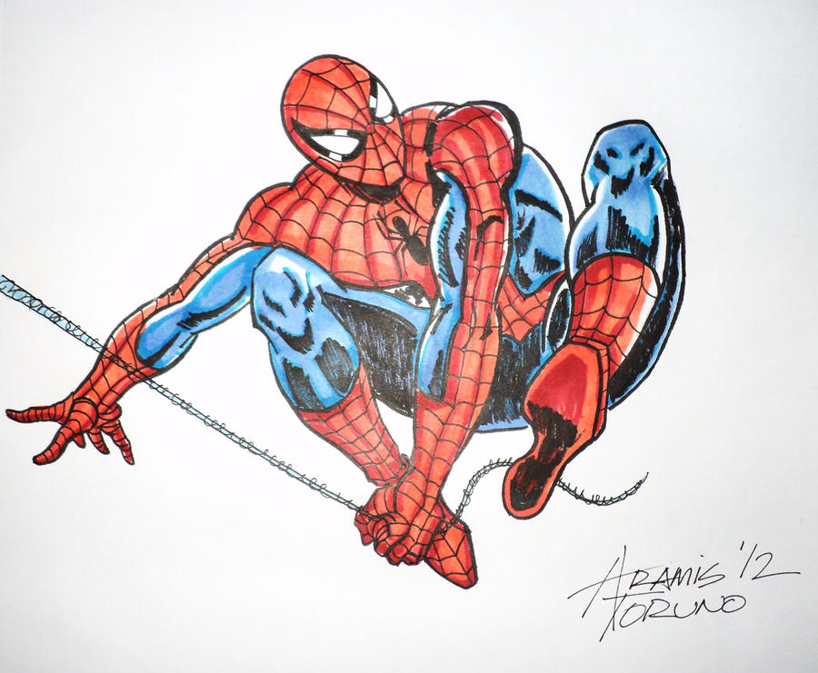 spiderman color by orion310 on deviantart