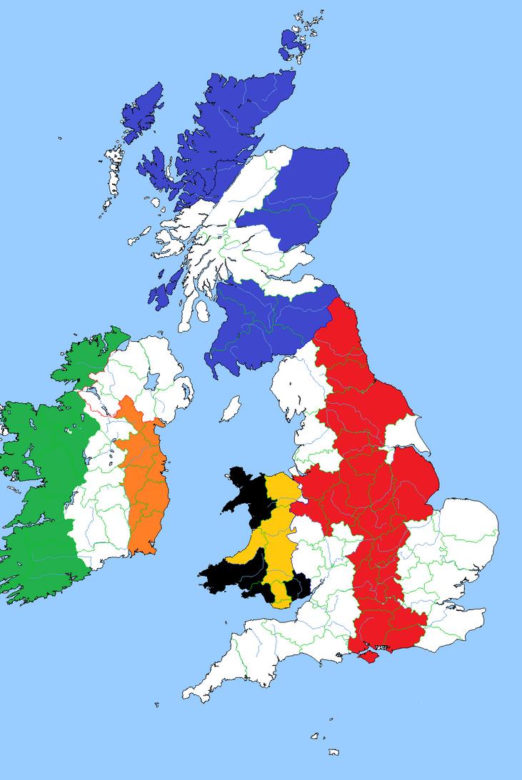 Britain And Ireland Flag Map By RoryTheLion On DeviantArt - Irish language map